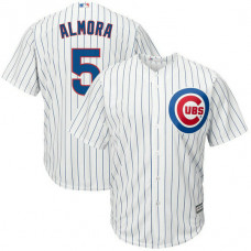 Albert Almora #5 Chicago Cubs Replica Home White Cool Base Jersey