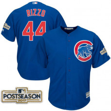 Anthony Rizzo #44 Chicago Cubs 2017 Postseason Royal Cool Base Jersey
