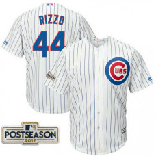 Anthony Rizzo #44 Chicago Cubs 2017 Postseason White Cool Base Jersey