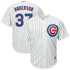 Brett Anderson #37 Chicago Cubs Replica Home White Cool Base Jersey
