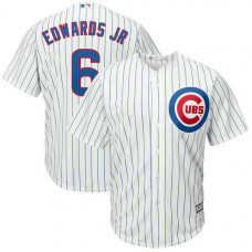 Carl Edwards Jr. #6 Chicago Cubs Replica Home White Cool Base Jersey