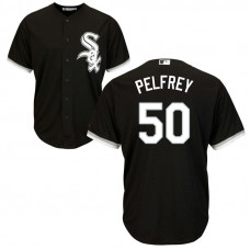 Chicago White Sox #50 Mike Pelfrey Alternate Black Cool Base Jersey