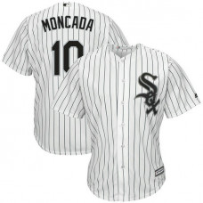 Chicago White Sox #10 Yoan Moncada Replica Home White Cool Base Jersey