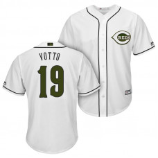 Cincinnati Reds #19 Joey Votto 2018 Alternate White Cool Base Jersey