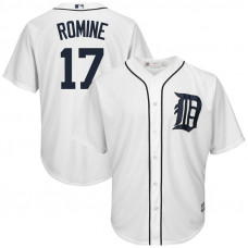 Andrew Romine #17 Detroit Tigers Replica Home White Cool Base Jersey