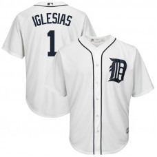 Detroit Tigers #1 Jose Iglesias Home White Cool Base Jersey