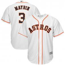 Cameron Maybin #3 Houston Astros Home White Cool Base Jersey