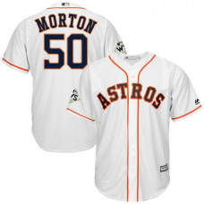 Charlie Morton #50 Houston Astros 2017 World Series Bound White Cool Base Jersey