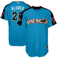 2017 All-Star American League Cleveland Indians Corey Kluber #28 Blue Home Run Derby 2017 All-Star American League Jersey
