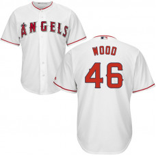 Blake Wood #46 Los Angeles Angels Home White Cool Base Jersey