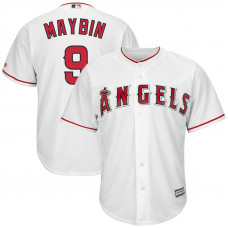 Cameron Maybin #9 Los Angeles Angels Replica Home White Cool Base Jersey