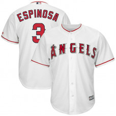 Danny Espinosa #3 Los Angeles Angels Replica Home White Cool Base Jersey