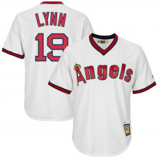 Fred Lynn #19 Los Angeles Angels Replica Cooperstown White Cool Base Jersey