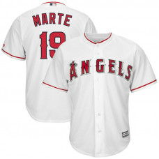 Jefry Marte #19 Los Angeles Angels Replica Home White Cool Base Jersey