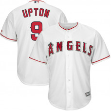 Justin Upton #9 Los Angeles Angels Home White Cool Base Jersey