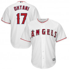 Los Angeles Angels #17 Shohei Ohtani Home White Cool Base Jersey