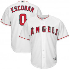 Los Angeles Angels #0 Yunel Escobar Replica Home White Cool Base Jersey
