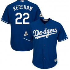 Clayton Kershaw #22 Los Angeles Dodgers 2017 World Series Bound Royal Cool Base Jersey