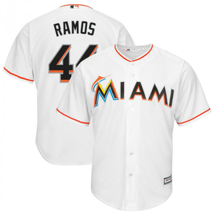 A.J. Ramos #44 Miami Marlins Replica Home White Cool Base Jersey