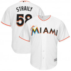 Dan Straily #58 Miami Marlins Home White Cool Base Jersey