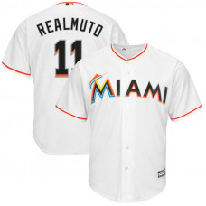 J.T. Realmuto #11 Miami Marlins Replica Home White Cool Base Jersey