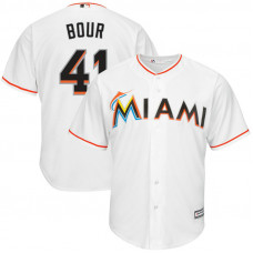 Justin Bour #41 Miami Marlins Home White Cool Base Jersey