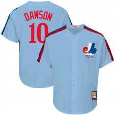 Andre Dawson #10 Montreal Expos Replica Cooperstown Collection Light Blue Cool Base Jersey