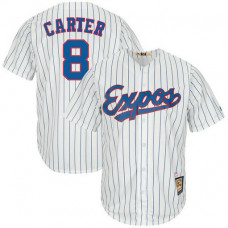 Gary Carter #8 Montreal Expos Replica Cooperstown Collection White Cool Base Jersey