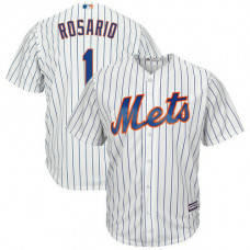 Amed Rosario #1 New York Mets Replica Home White Cool Base Jersey