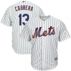 Asdrubal Cabrera #13 New York Mets Replica Home White Cool Base Jersey