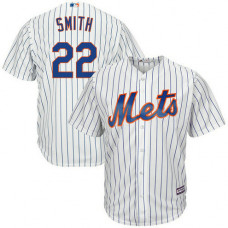 Dominic Smith #22 New York Mets Home White Cool Base Jersey