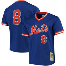 Gary Carter #8 New York Mets Batting Practice Royal Jersey
