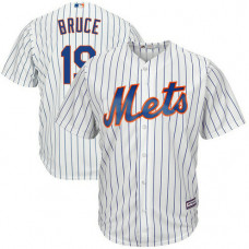 New York Mets #19 Jay Bruce Home White Cool Base Jersey