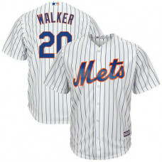 New York Mets #20 Neil Walker Home White Cool Base Jersey