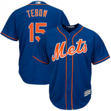 New York Mets #15 Tim Tebow Replica Alternate Royal Cool Base Jersey