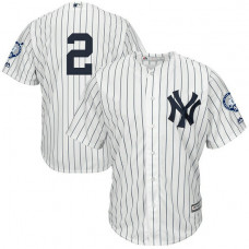 New York Yankees Derek Jeter Home #2 Retirement Day White Cool Base Jersey