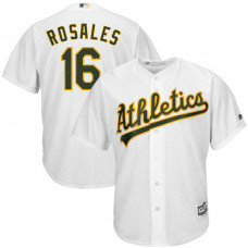 Adam Rosales #16 Oakland Athletics Replica Home White Cool Base Jersey