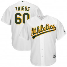Andrew Triggs #60 Oakland Athletics Home White Cool Base Jersey