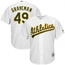 Kendall Graveman #49 Oakland Athletics Replica Home White Cool Base Jersey