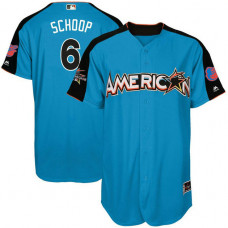 2017 All-Star American League Baltimore Orioles Jonathan Schoop #6 Blue Home Run Derby 2017 All-Star American League Jersey
