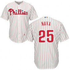 Philadelphia Phillies #25 Daniel Nava Home White Cool Base Jersey