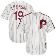 Greg Luzinski #19 Philadelphia Phillies Replica Cooperstown White Cool Base Jersey