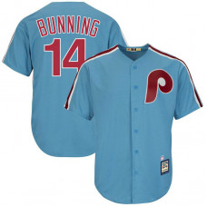 Jim Bunning #14 Philadelphia Phillies Replica Cooperstown Collection Light Blue Cool Base Jersey