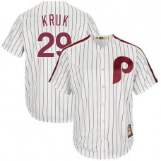 John Kruk #29 Philadelphia Phillies Replica Cooperstown Collection White Cool Base Jersey