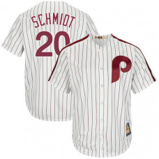 Mike Schmidt #20 Philadelphia Phillies Replica Cooperstown Collection White Cool Base Jersey