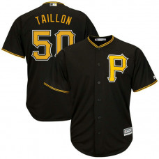 Jameson Taillon #50 Pittsburgh Pirates Replica Alternate Black Cool Base Jersey