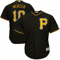 Pittsburgh Pirates #10 Jordy Mercer Alternate Black Cool Base Jersey