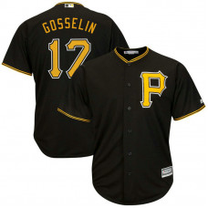 Phil Gosselin #17 Pittsburgh Pirates Alternate Black Cool Base Jersey