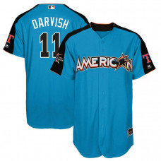 2017 All-Star American League Texas Rangers Yu Darvish #11 Blue Home Run Derby 2017 All-Star American League Jersey