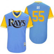 Tampa Bay Rays Adam Kolarek #55 AK Light Blue Nickname 2017 Little League Players Weekend Jersey